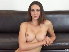 Big breasted blue eyed beauty gets sexy with her vibrator porn tube video
