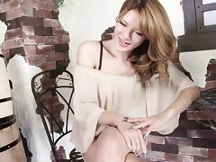 Elegant blouse and skirt on a smoking hot Japanese tranny porn tube video