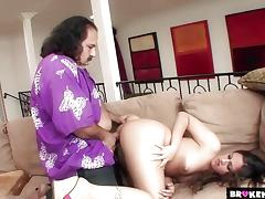 BrokenTeens Ron Jeremy Still Going Hard in Her Pussy