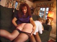 British, British, Punishment, Spanking, Stockings, Red
