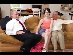 Super hot girl anal fuck with 2 grandpas porn tube video