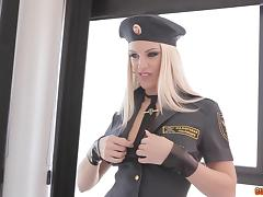It is An all-out fuck with this high heeled ranger blonde and her colleague porn tube video