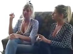 2 women smoking