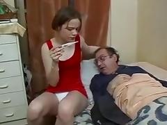 Looking after daddy ! porn tube video