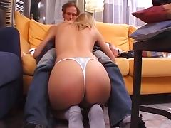 Amateur Blonde From street On Casting