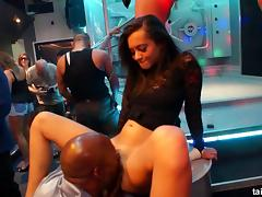 Crazy nightclub adventure with the lesbians who love to suck cock porn tube video