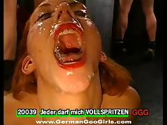 Bukkake, Bukkake, Close Up, Cum in Mouth, Cumshot, Cute