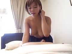 Short-haired girlfriend would like to take cock into her Asian cunt porn tube video