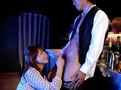 Amazing Japanese girl Akiho Yoshizawa in Crazy JAV censored Swallow, Public clip
