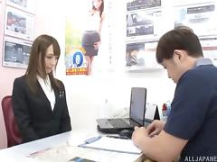 Once again is Kaede ready to get the rough doggy style drilling porn tube video