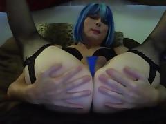 Sexy Blue Hair Tasha Dildos Ass Crossdresser tube porn video