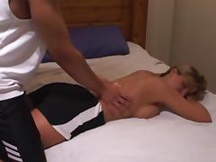 hotwife uses BBC as a workout and gets breeded porn tube video
