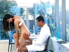 Impressively big black cock fucks a skinny Latina chick porn tube video