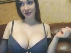 Busty Piercing Brunette with Dildo porn tube video