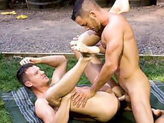 Big Wood XXX Video: Aden Jaric, Steven Daigle