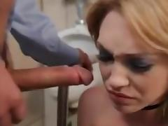 Incredible Deep Throat video with Blowjob,Blonde scenes