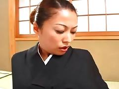 Traditional Japanese girl is totally down for the doggy style poking