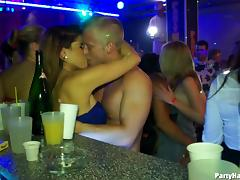 These sluts are never getting enough of fucking several thick dongs in the club porn tube video