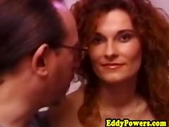 Retro redhead pussypounded before cumshot porn tube video