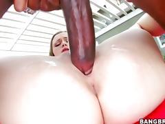 Monica Rise tries huge black cock