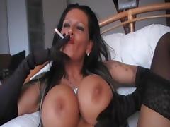 Smoking brunette - 3