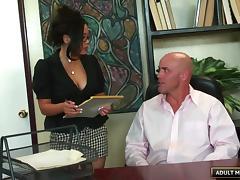 Nice big ass on a hot office slut riding dick