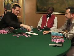 Ladies at the poker game have an orgy with the players