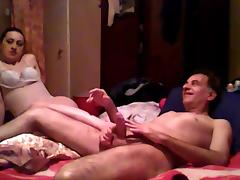 Dominant Wife play with her husband