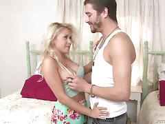 Cute little Marsha May gags on the huge cock of Xander