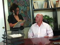 Bald guy gives the arousing Jessica a very nice penetration treatment porn tube video