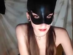 Masked girl porn tube video
