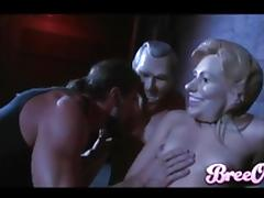 Big man with a thick cock fucks two gorgeous blondes