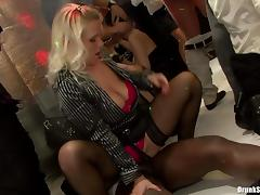 Lecherous babes give in to hardcore fucking at a club party in a reality shoot porn tube video