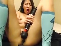 Crazy Webcam record with Asian, Masturbation scenes