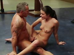 Getting dicked on the floor is exactly what Adria wanted to happen!
