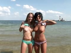 Bikini, Beach, Beauty, Bikini, Lesbian, Outdoor