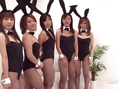 Bunny, Asian, Bunny, Fingering, Group, Japanese