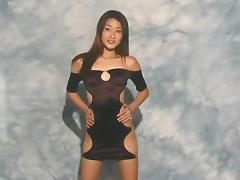 Sluttiest dress ever modeled by a hot Asian girl porn tube video