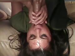 Throat gagging slut 3