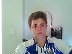 Very Cute Portuguese Boy Cums On Cam  Hot Ass On Doggie porn tube video