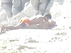 Shy couple caught on the nudist beach tube porn video