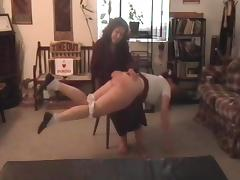 Spanked after school porn tube video