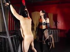 Mistress harsh whipping slave