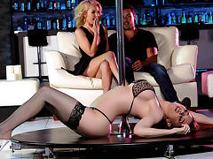 Aaliyah Love & Veronica Vain & Ryan Driller in Pole Skills and Holes Filled - Brazzers