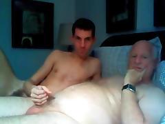Grandpa and college girl boy have fun on cam tube porn video