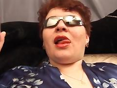 Fat russian mature masturbates porn tube video