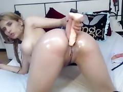 Depraved AngelKiuty cucumber stuffed his ass porn tube video