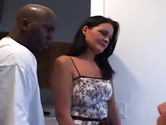 Splendid Interracial Blowjob x-rated mov