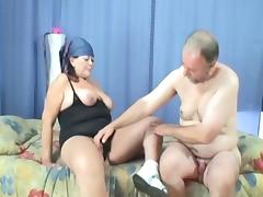 He hired the old chick to clean his house and pleasure his cock porn tube video