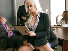 Office, Big Tits, Blonde, Fucking, Office, Quickie
